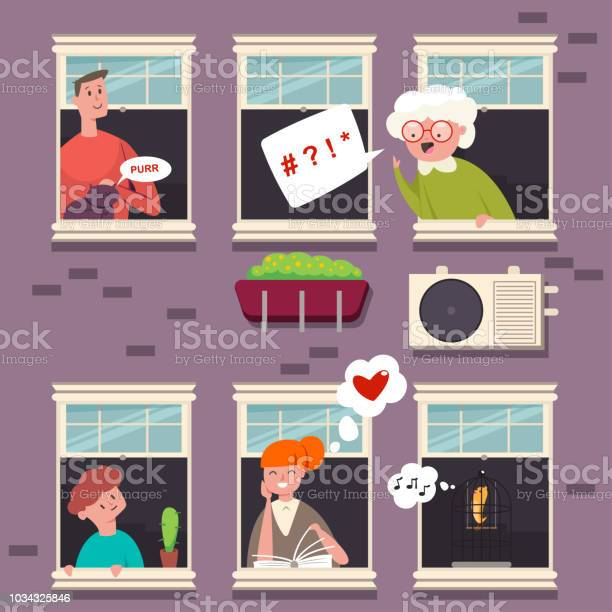 Neighbors in the windows people character with a speech bubble vector vector id1034325846?b=1&k=6&m=1034325846&s=612x612&h=huxeewm0yakax0ottdpq i1hqlieiqe6bk1z0infhps=
