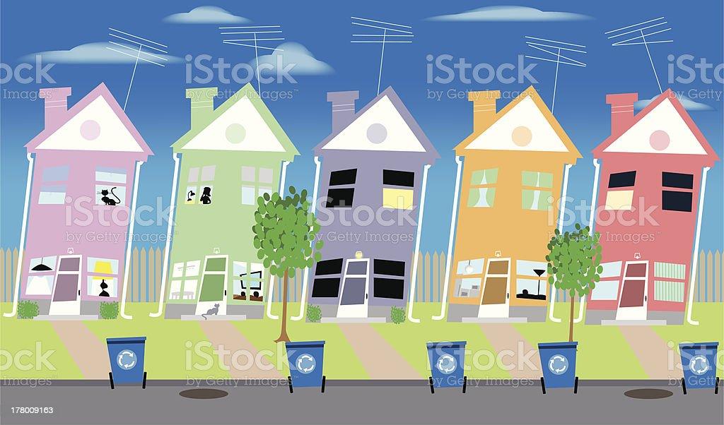 Neighbors royalty-free stock vector art