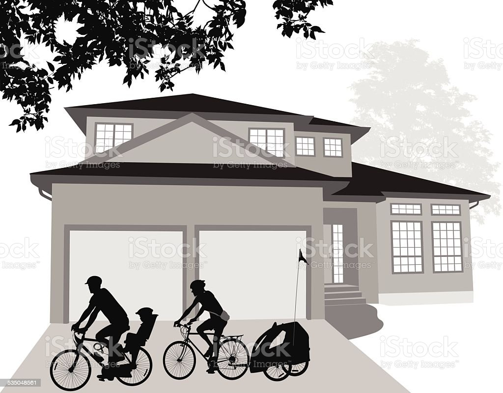 NeighborsCycling - Illustration vectorielle