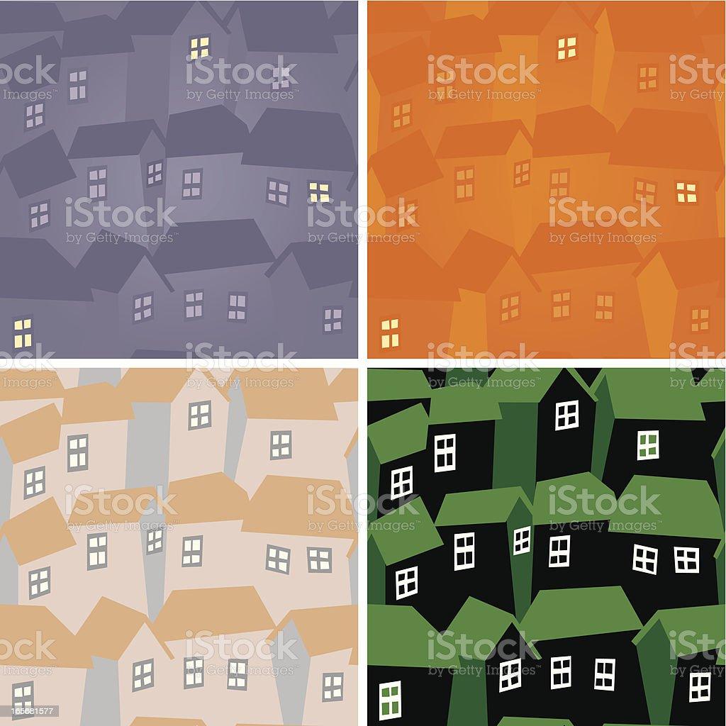 Neighbourhood pattern swatch royalty-free stock vector art