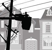 Electricity poles maintenance