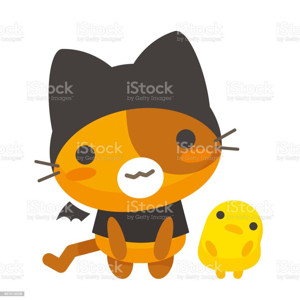 Neko Talk/greetings of the cat vector art illustration