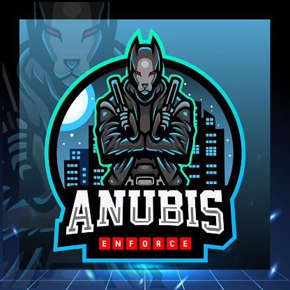 Neo anubis mascot. symbol design