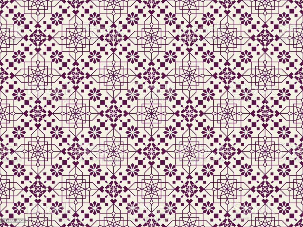 Neoclassic Islamic seamless pattern. Vector background illustration