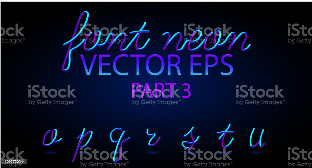 Neon 3d Typeset With Rounded Shapes Font Set Of Painted Letters Matte  Liquid Colors 80s Ans 90s Style Night Glow Effect Tube Alphabet Abc For Dj