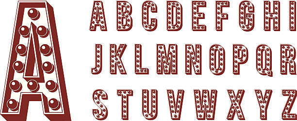 Neon Alphabet vector art illustration