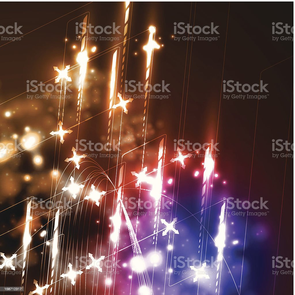 Neon background royalty-free stock vector art