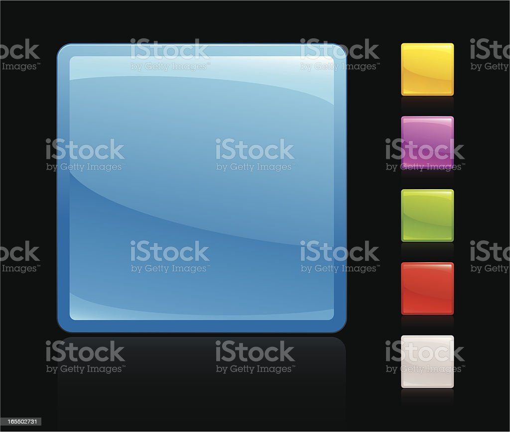 Neon button royalty-free neon button stock vector art & more images of black background