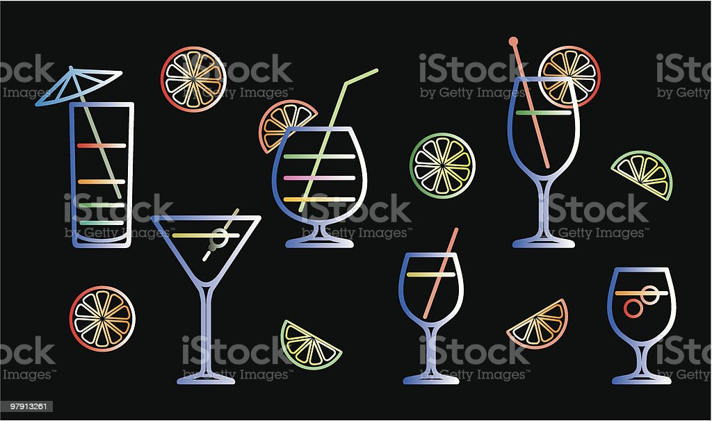 Neon cocktails vector illustration royalty-free neon cocktails vector illustration stock vector art & more images of alcohol