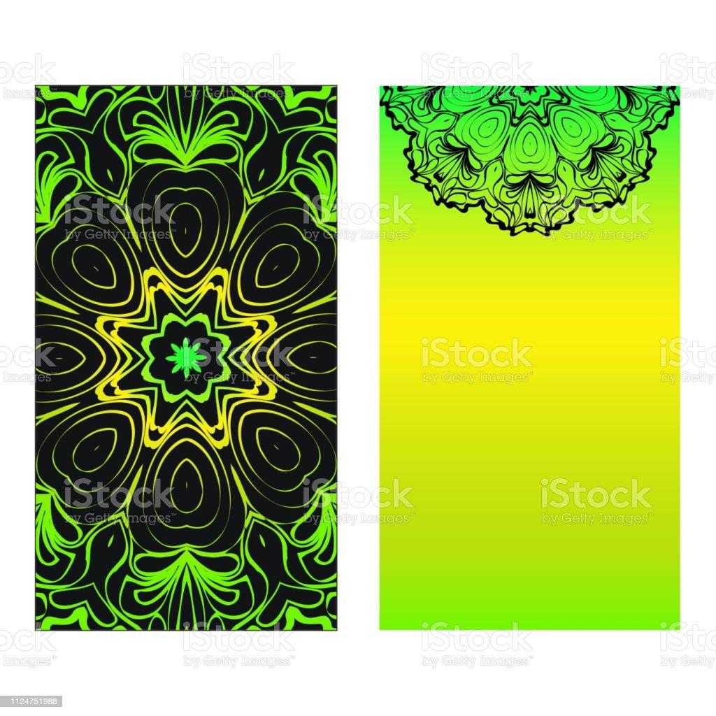 Ilustración De Color De Neón Juego De Dos Diseño Plantilla