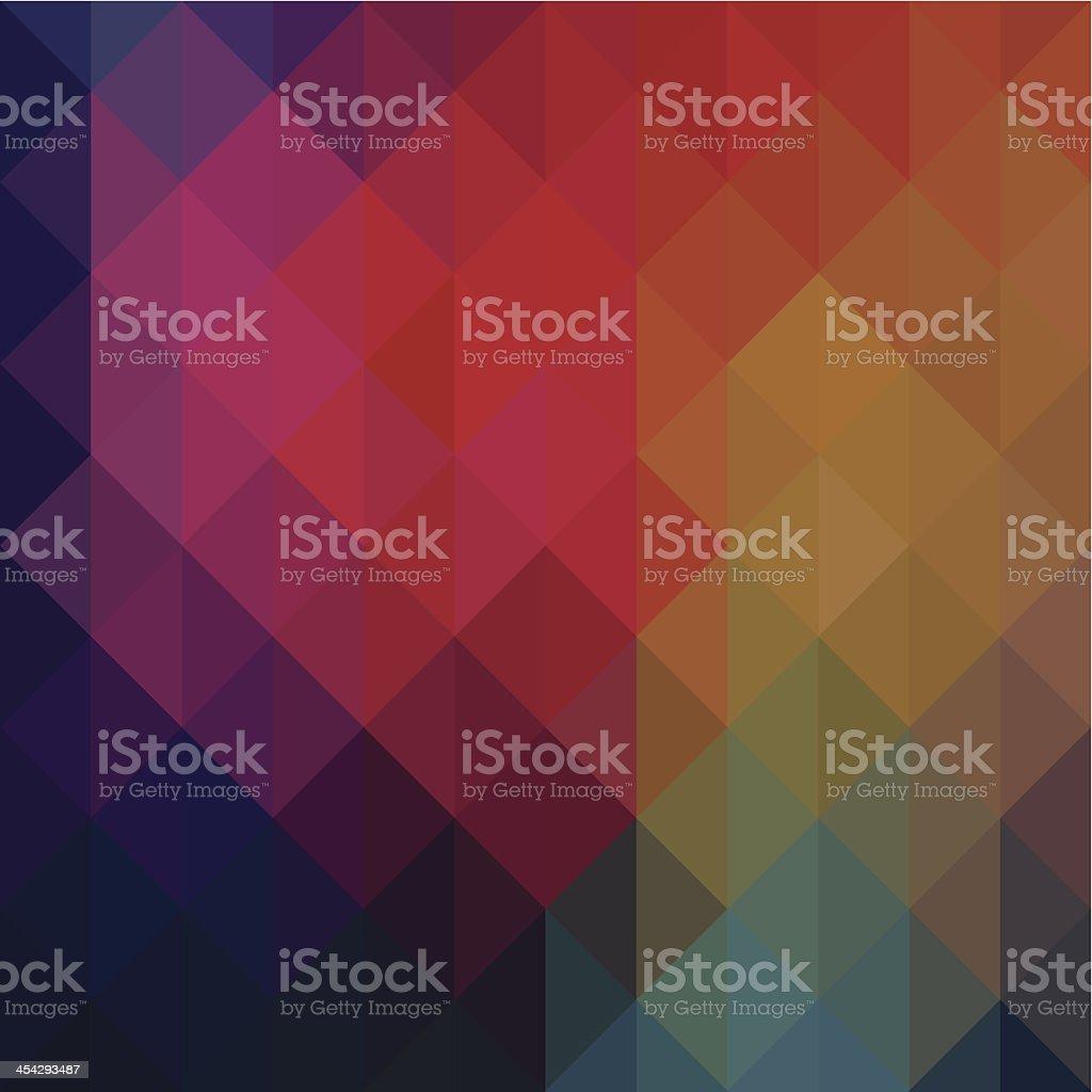 Neon colored triangular geometric background vector art illustration