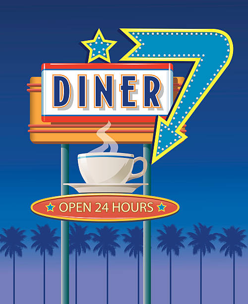 Best Diner Illustrations, Royalty-Free Vector Graphics ...
