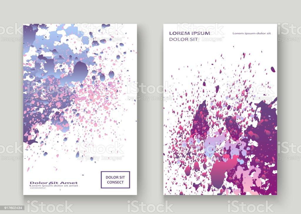 Neon Explosion Paint Splatter Artistic Cover Design Fluid Violet