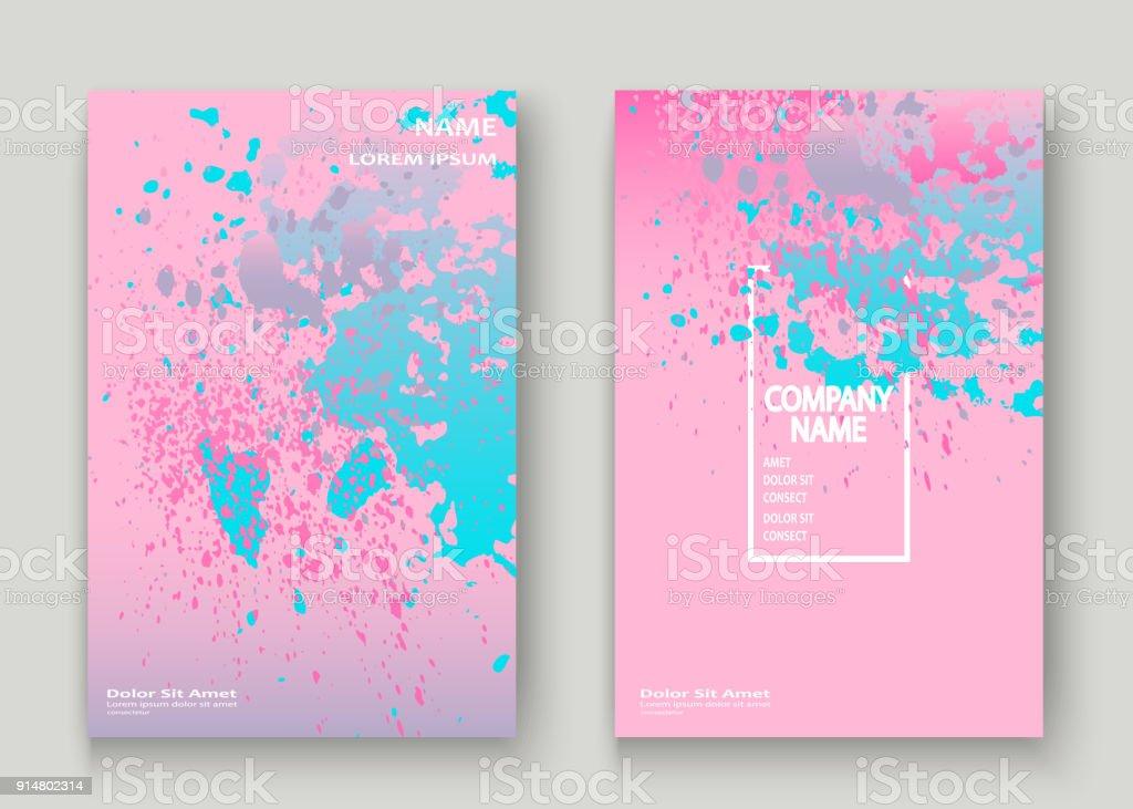 Neon Explosion Farbspritzer Künstlerische Cover Rahmendesign ...