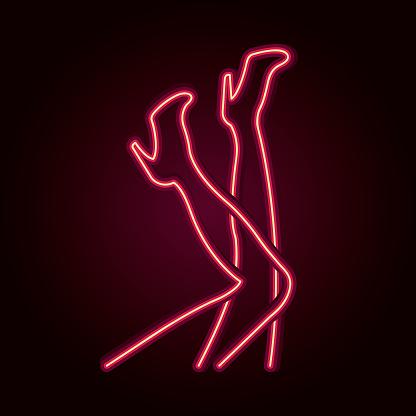 Neon Female Legs - Stockowe grafiki wektorowe i więcej obrazów 80-89 lat