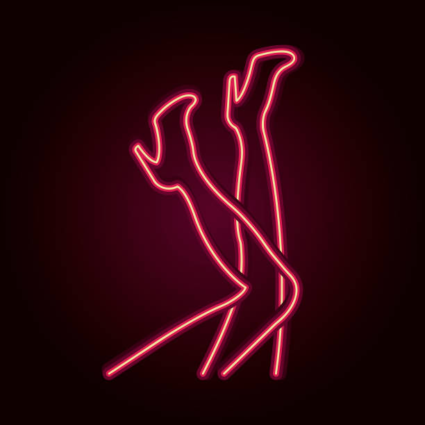 neon female legs. - zmysłowość stock illustrations