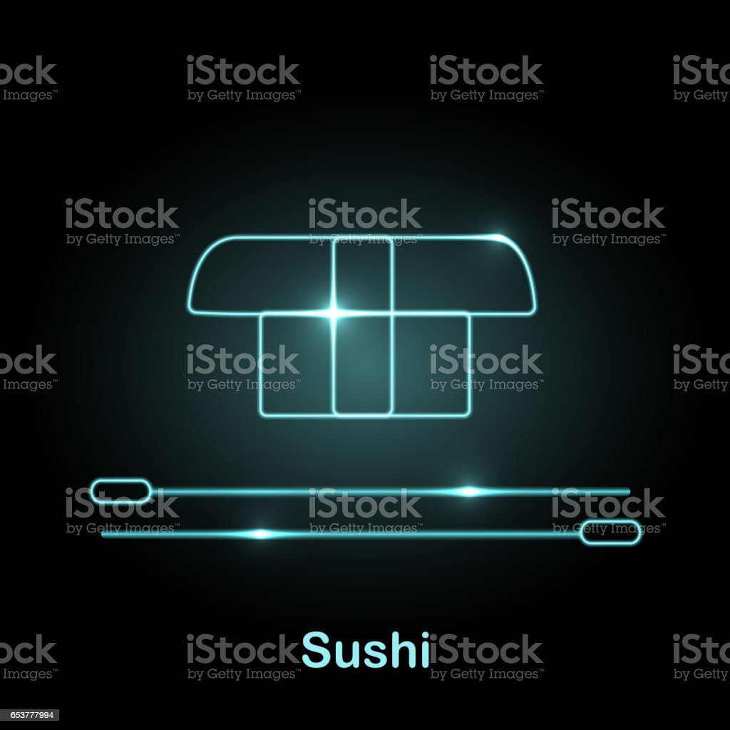 Neon food icon Vector illustration