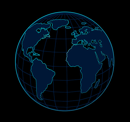 neon globe