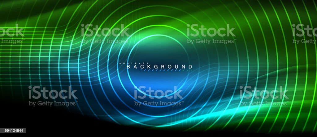Neon Glowing Lines Magic Energy Space Light Concept Abstract Background Wallpaper Design Stock Illustration Download Image Now