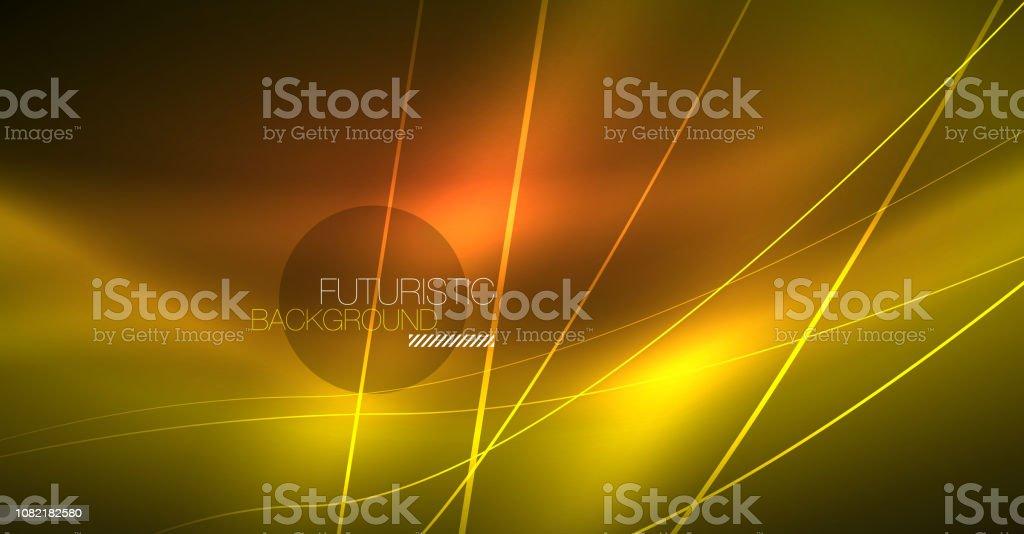 Neon glowing magic background, neon banner, night sky wallpaper....