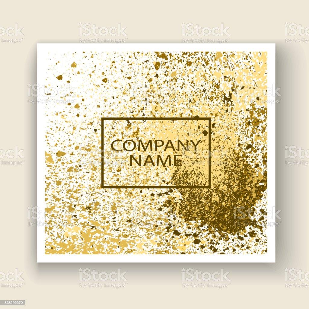 Neon Gold Explosion Farbspritzer Künstlerische Cover Rahmendesign ...