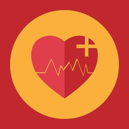 Neon heart rate, Heartbeat icon