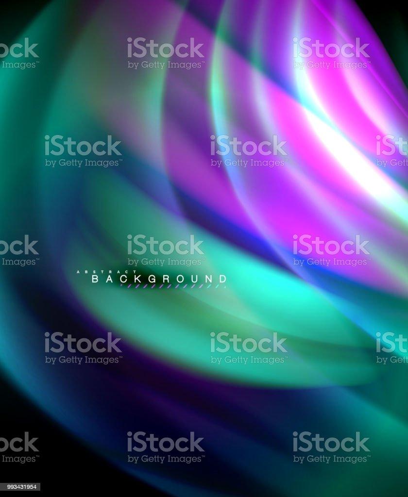 Web壁紙パターンテクスチャ背景のネオン ホログラフィック流体色波 3dのベクターアート素材や画像を多数ご用意 Istock