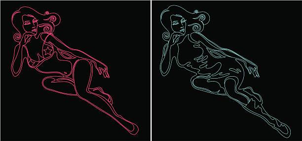 Neon Dama. – artystyczna grafika wektorowa