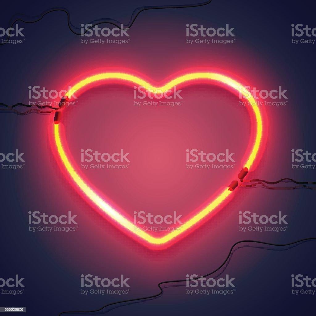 neon lamp heart-02 - Illustration vectorielle