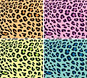 Seamless colorful leopard patterns.