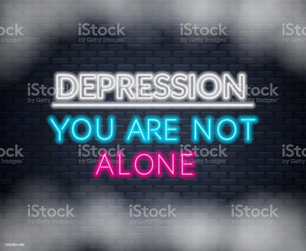 Citaten Schrijven Free : Neon letters depressie je bent niet alleen motiverende citaat