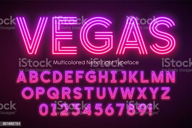 Neon light alphabet multicolored extra glowing font vector id931665754?b=1&k=6&m=931665754&s=612x612&h=h7psmicenq1uooflevxmjqojcbkadvmvy3dgfqtome4=
