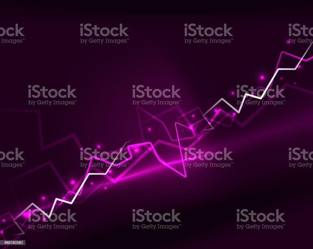 Neon lightning vector background ilustración de neon lightning vector background y más banco de imágenes de abstracto libre de derechos