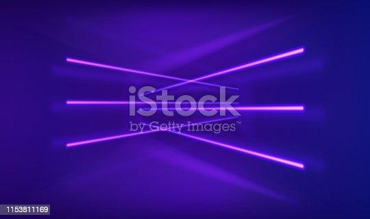istock Neon lights background 1153811169