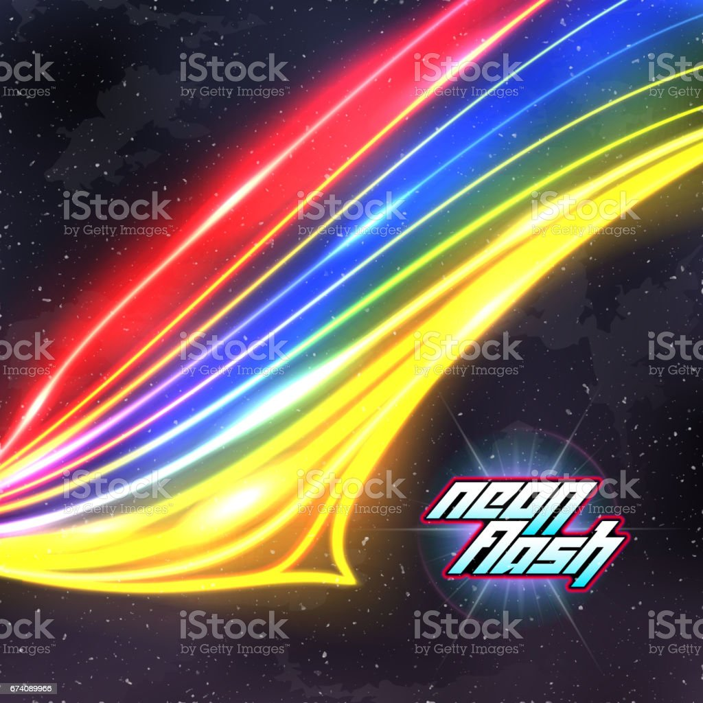 neon lines new retro wave background with 80s vhs style のイラスト