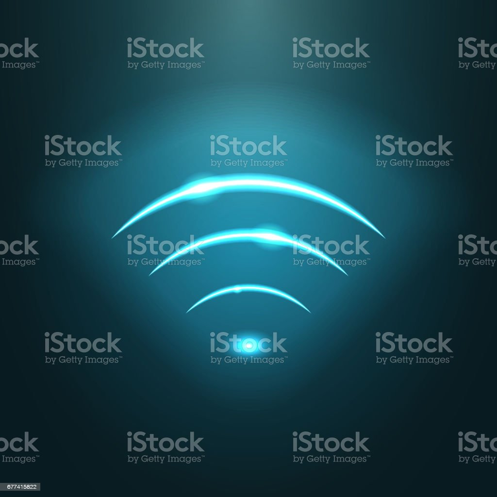 Neon modern wifi sign. EPS10 vector. vector art illustration