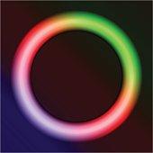 neon ring on a dark background
