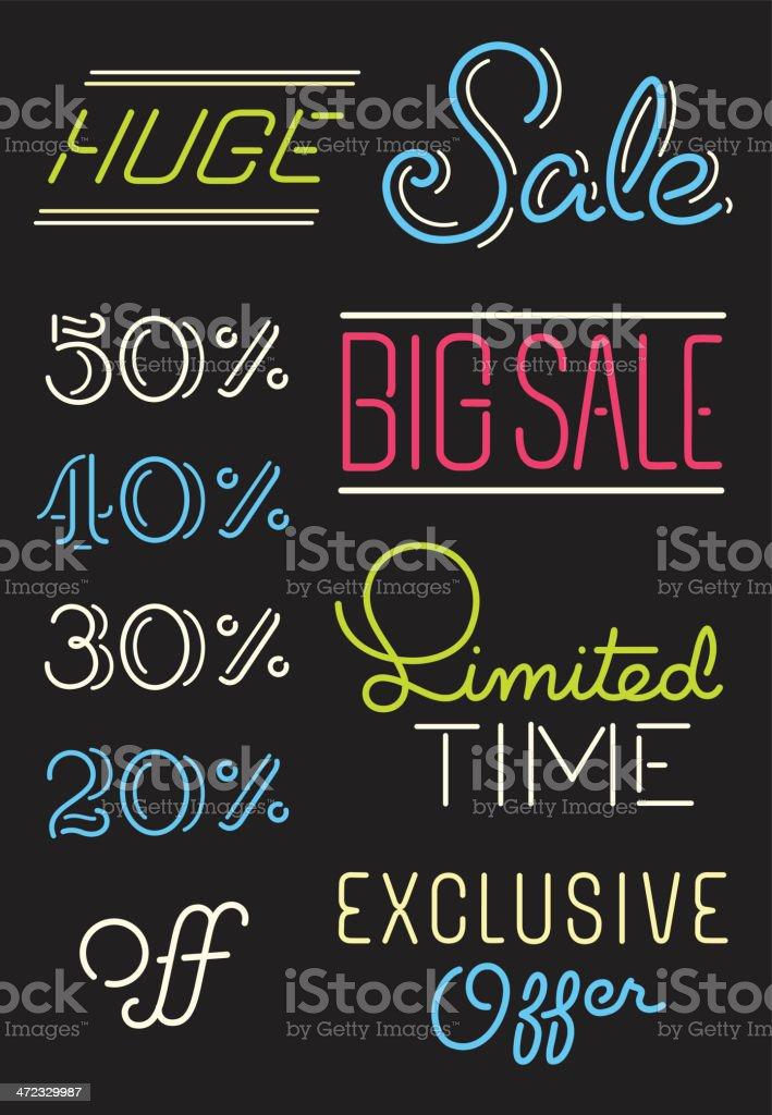 Neon Sale royalty-free stock vector art