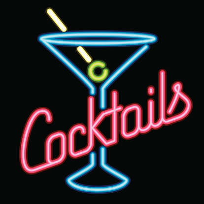 Neon Sign Cocktail Lounge Icon