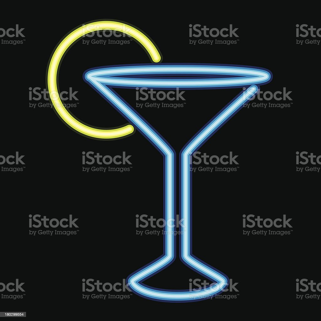 Neon Sign Cocktail Lounge Icon royalty-free stock vector art