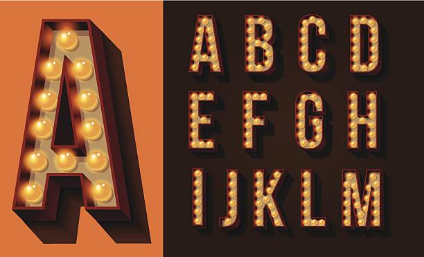 Neon Sign Type vector art illustration