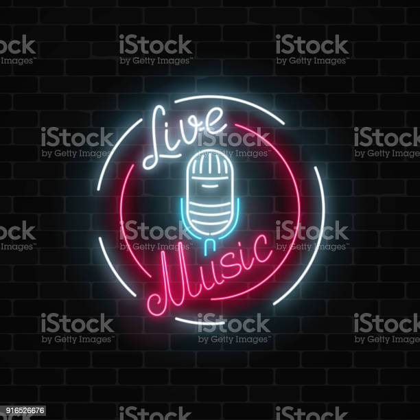 Neon signboard with microphone in round frame nightclub with live vector id916526676?b=1&k=6&m=916526676&s=612x612&h=i1xobdrnkrimc3 abssdzcdditudbaztaslecapbgh8=