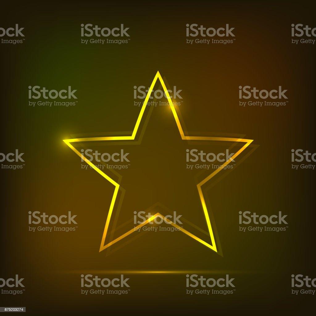 Neon star abstract background vector art illustration