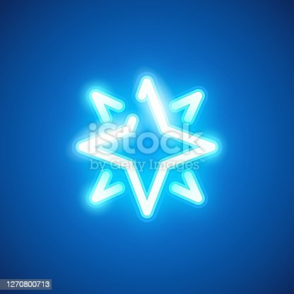 istock Neon Star Icon 1270800713