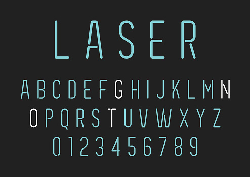 Neon Style Lettering - Alphabet Set