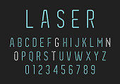 Neon Style Lettering - Alphabet Set Vector EPS File.