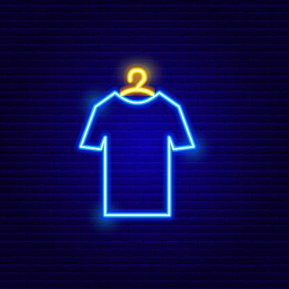 Neon T-Shirt Icon