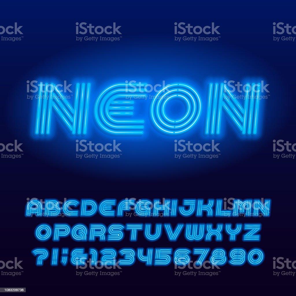 フォント アプリ ネオン管