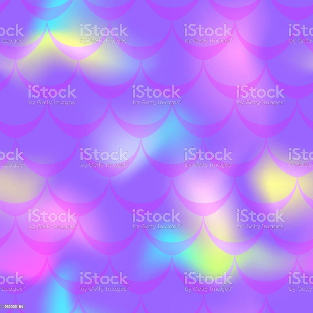 Neon violet mermaid vector background. Multicolored iridescent background. vector art illustration