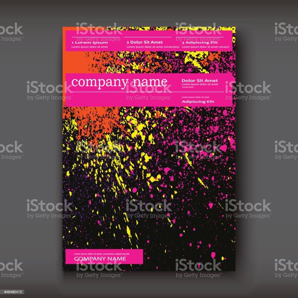Neon Aquarell Explosion Form Künstlerischer Umfasst Design
